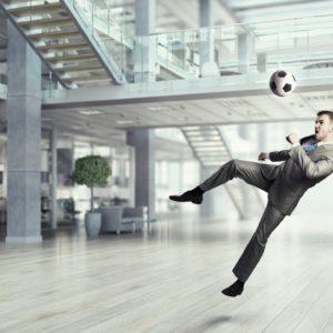 Fußball im Büro