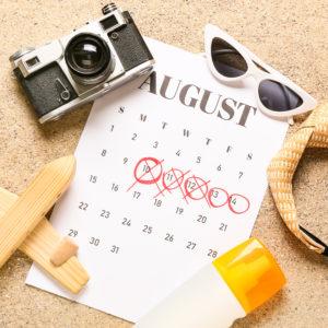 Urlaubsmonat August.