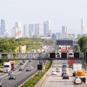 Autobahn bei Frankfurt / Main