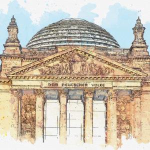 Bundestag (Wasserfarben)