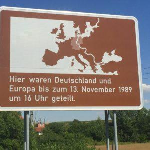 Ehemalige innerdeutsche Grenze in Großburschla (Thüringen)
