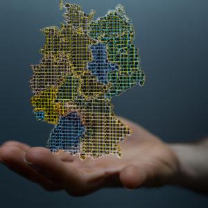 Virtuelle Deutschlandkarte