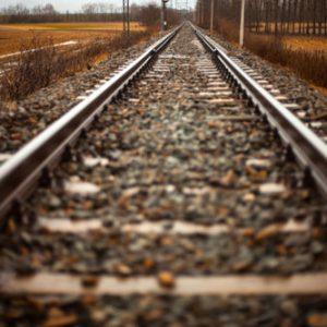 Leere Gleise bei Streik