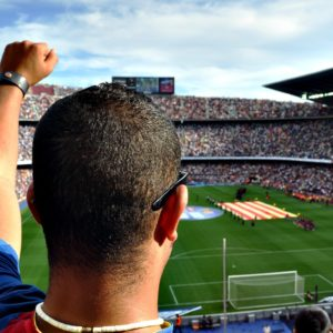 Fans im Fußball-Stadion