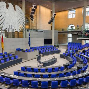 Plenarsaal des Deutschen Bundestages.