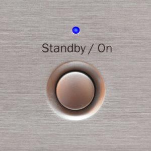 Standby-Knopf als Zeichen für Kontinuität.