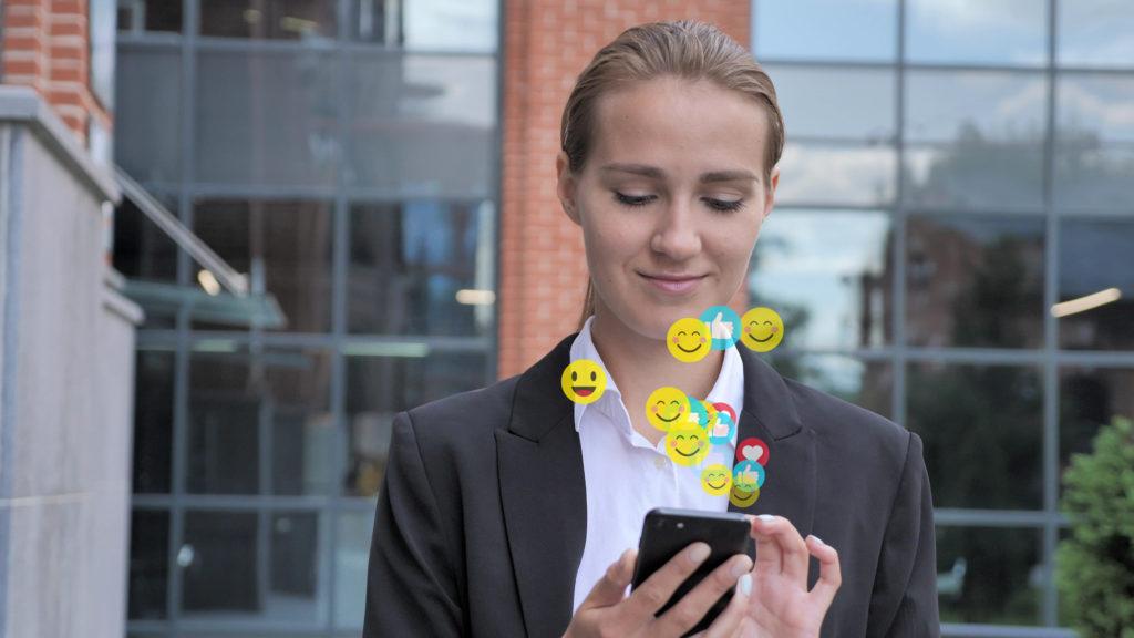 Emojis im Beruf.