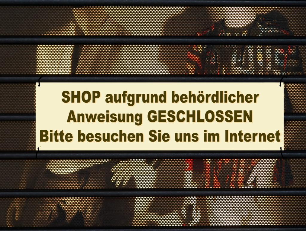 Shutdown im Einzelhandel.